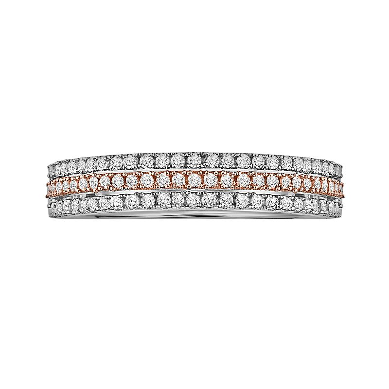 Cherish Always 10k Gold Two Tone 1/4-ct. T.W. Diamond Wedding Ring