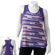 Tek Gear Printed Racerback Performance Tank - Women's Plus