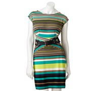 AB Studio Striped Sheath Dress - Petite