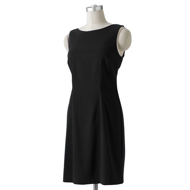ab studio solid sheath dress petite