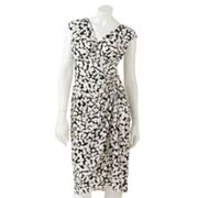 Suite 7 Dot Empire Faux-Wrap Dress