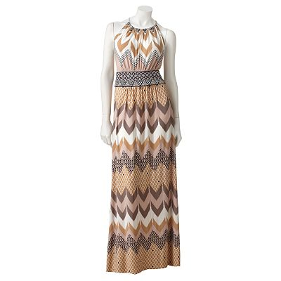 Suite 7 Chevron Shirred Maxi Dress