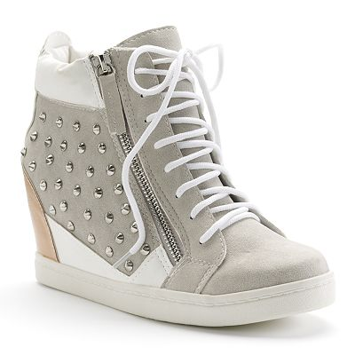 Sacred Heart Daynell Studded Wedge Sneakers - Women
