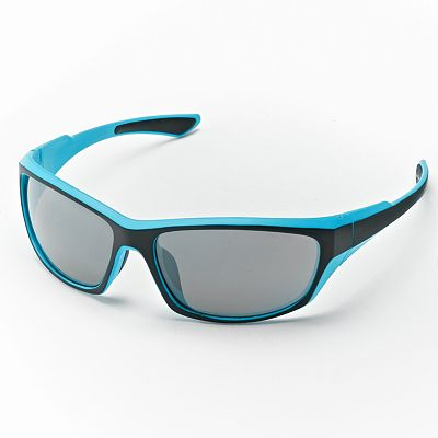 Helix Rectangle Wrap Sunglasses