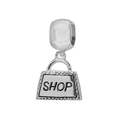 Individuality Beads Sterling Silver Shopping Bag Charm