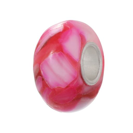 Individuality Beads Sterling Silver Swirl Glass Bead