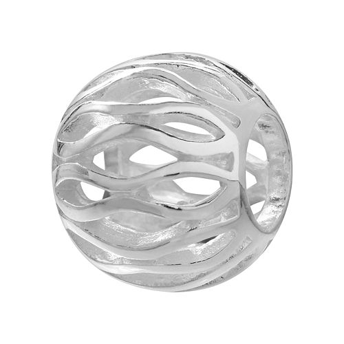 Individuality Beads Sterling Silver Openwork Bead