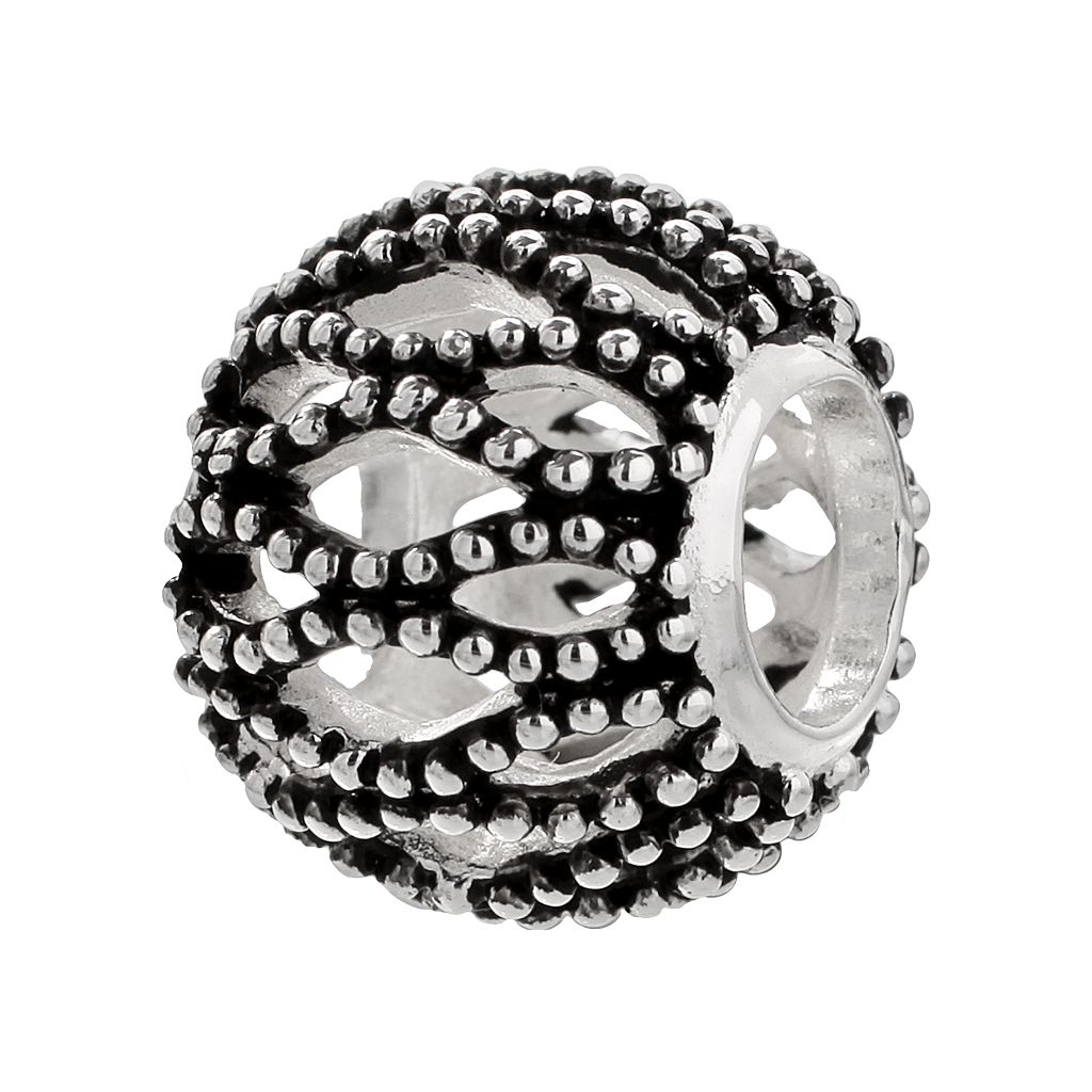 Individuality Beads Sterling Silver Studded Openwork Bead