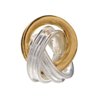 Individuality Beads 24k Gold Over Silver and Sterling Silver Love Knot Bead