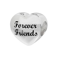Individuality Beads Sterling Silver 'Forever Friends' Heart Bead
