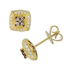 Espresso Natural Color Diamonds 10k Gold 1/2-ct. T.W. Brown & White Diamond Stud Earrings
