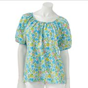 Cathy Daniels Floral Embellished Top