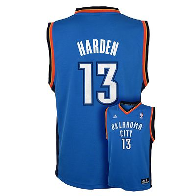 adidas Oklahoma City Thunder James Harden NBA Jersey - Boys 8-20