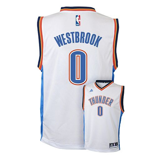 detailed look 2c52b 196b9 adidas Oklahoma City Thunder Russell Westbrook Jersey ...
