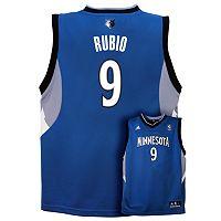 Boys 8-20 adidas Minnesota Timberwolves Ricky Rubio NBA Jersey