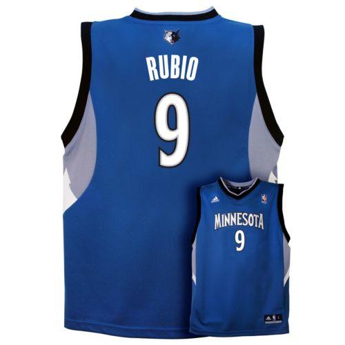 adidas Minnesota Timberwolves Ricky Rubio NBA Jersey - Boys 8-20