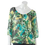 AB Studio Floral Peasant Top Set