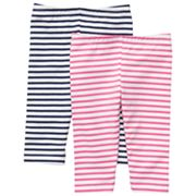 Carter's 2-pk. Striped Capri Leggings - Baby