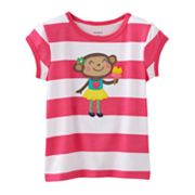 Carter's Striped Monkey Tee - Baby