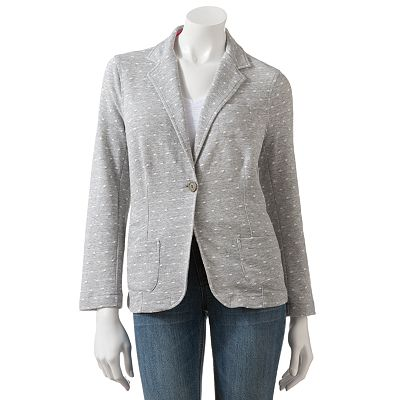 SO Jacquard Polka-Dot Knit Blazer