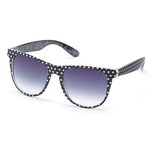 SO® Polka-Dot Retro Sunglasses