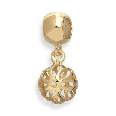 Individuality Beads 24k Gold Over Silver Openwork Charm