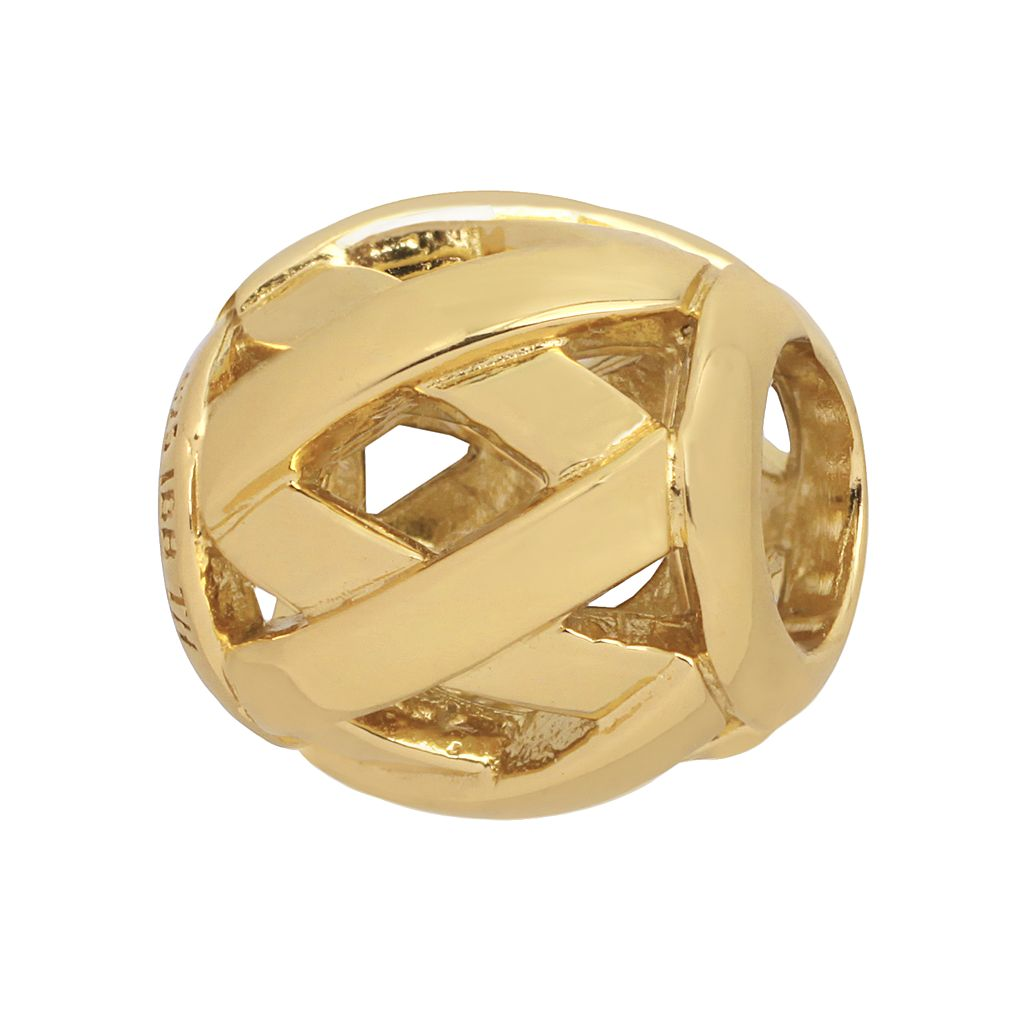 Individuality Beads 24k Gold Over Silver Woven Bead