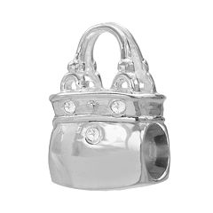 Individuality Beads Sterling Silver Diamond Accent Handbag Bead