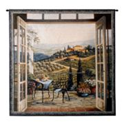 PCI Balcony View of the Villa Tapestry Wall Decor