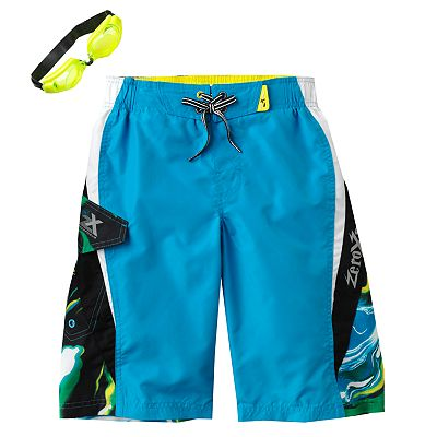 ZeroXposur Block Saturn Swim Trunks - Boys 8-20