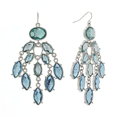 Apt. 9 Simulated Crystal Chandelier Earrings