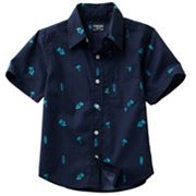 OshKosh B'gosh Palm Tree Woven Shirt - Boys 4-7x