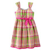 Jessica Ann Plaid Seersucker Sundress - Girls 7-16