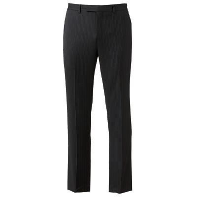Marc Anthony Slim-Fit Pinstripe Wool Flat-Front Suit Pants