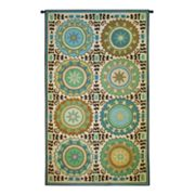 PCI Suzani Rosettes Tapestry Wall Decor