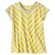 Hang Ten Striped Mesh-Back Tee and Camisole Set - Girls 7-16