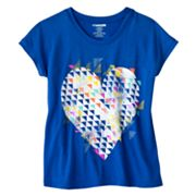 Hang Ten Geometric Heart Mesh-Back Tee and Camisole Set - Girls 7-16