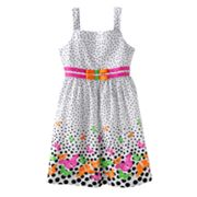Jessica Ann Butterfly Dot Sundress - Girls 7-12