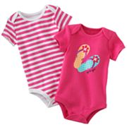 Baby Starters 2-pk. Flip-Flop and Striped Bodysuits - Baby