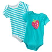 Baby Starters 2-pk. Strawberry and Striped Bodysuits - Baby