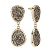Jennifer Lopez Gold Tone Studded Drop Earrings