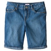 SO Cuffed Denim Bermuda Shorts - Girls Plus