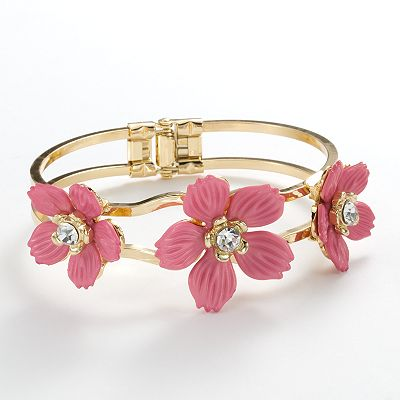 Apt. 9 Simulated Crystal Flower Cuff Bracelet