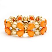 Apt. 9 Simulated Crystal and Bead Stretch Bracelet