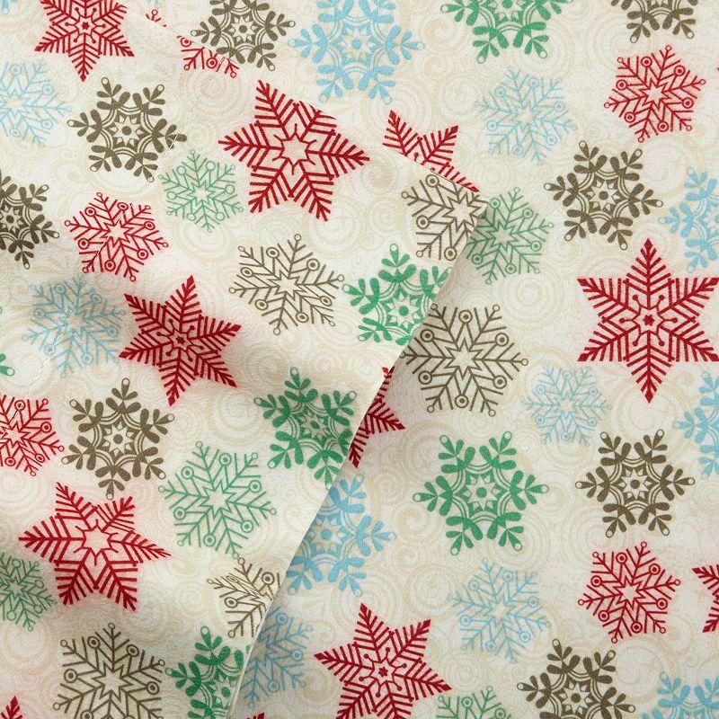 Snowflake Micro Flannel Sheet Set - Twin