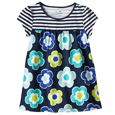 Jumping Beans Striped Floral Tee - Toddler