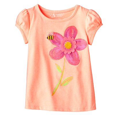 SONOMA life + style Sequined Flower Tee - Toddler