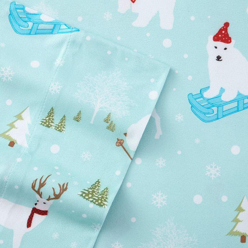 Fun in the Snow Micro Flannel Deep-Pocket Sheet Set - King