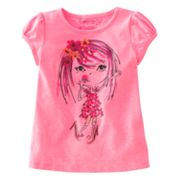 SONOMA life + style Sequined Girl Graphic Tee - Toddler