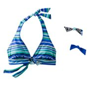 Southpoint Striped Halter Bikini Top